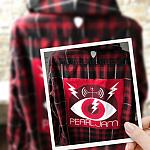 Pearl Jam Concert Hooded Flannel